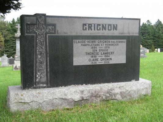 Tombe de Claude-Henri Grignon ( Sainte-Adèle )