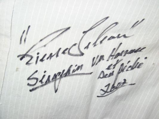 Signature Pierre Lebeau, ( ENCAN CINÉMATHÈQUE QUÉBÉCOISE )