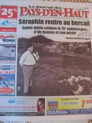 Le journal des Pays D'en Haut 2008, (Claude-Henri Grignon)