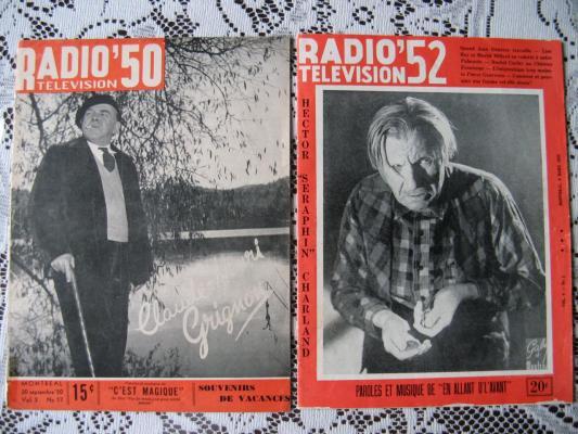 Revue Radio - Télévision 1950 & 1952