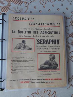 Page publicitaire BD Bulletin des Agriculteurs, septembre 1951