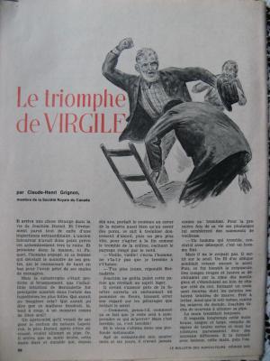 Le triomphe de Virgile par Claude-Henri Grignon
