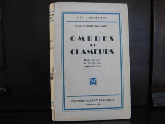 Ombres et Clameurs 1933 par C.H. Grignon