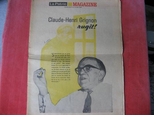 Magazine La Patrie août 1962