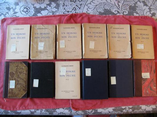 12 exemplaires Un homme et son péché 1933 / Éditions du Totem