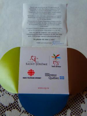 Invitation à l'inauguration de l'Espace Claude-Henri Grignon