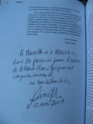 Bio de Claude-Henri Grignon par Luc Bertrand