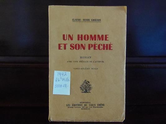 Un homme et son péché 1942 / Éditions du Vieux Chêne