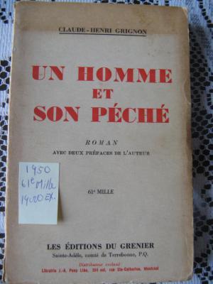 Un homme et son péché 1950 / Éditions du Grenier