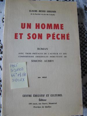 Un homme et son péché 1965 / Centre Éducatif et Culturel
