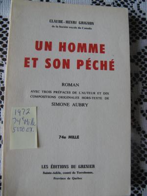 Un homme et son péché 1972 / Éditions du Grenier